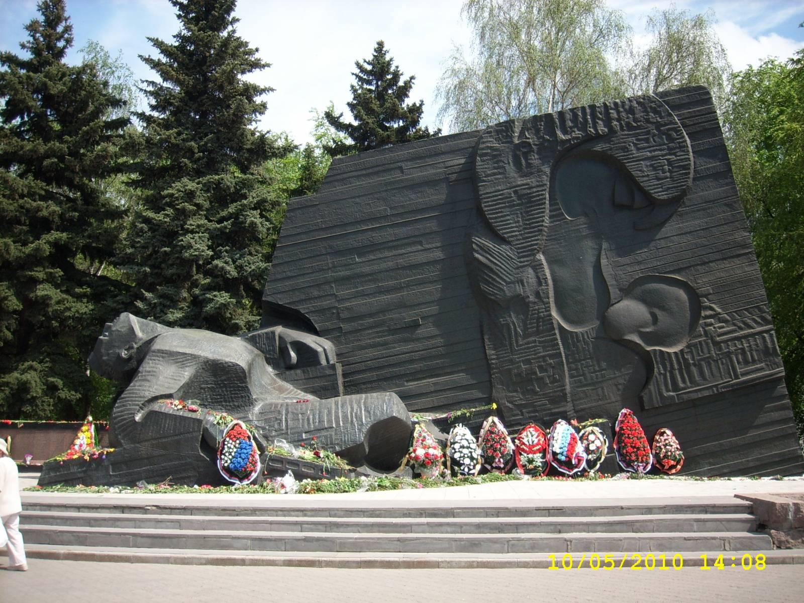 Рисунок памятник славы воронеж 3